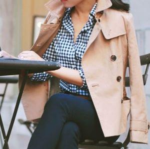 Hollister Blue Checkered Button Down Shirt
